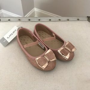Carters Rose Gold Mary Jane Flat. Toddler. NWT